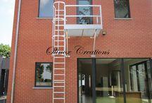 Escaliers escamotables d'extérieur