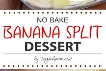 no bake banana dessert