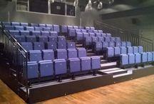 Realizacje ogólnie / Realizacje wykonane przez firmę Wamat. Wykonywaliśmy trybuny, widownie, zadaszenia estradowe, sceny, kratownice i schody dostawne.