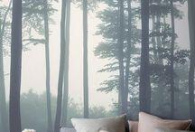 Fototapeten und Wald
