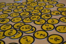 LBC Tokens / Pictures of LBC Tokens - a tool from Learning Battle Cards family for supporting instructional design proces. LBC Tokens could be used on any magnetic whiteboards.
