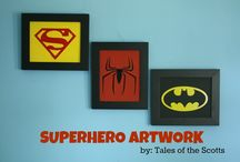 Superhero bedroom  / by Lia Banks