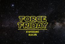 Star Wars #ForceFriday Costumes & Accessories / No need to journey to a galaxy far, far away. #ForceFriday and the most authentic looks from Star Wars: The Force Awakens have arrived at BuyCostumes.com. Whether you want to go solo as a new hero for a new generation or gather a group of friends and use the Dark Side of The Force, we have the authentic Star Wars costumes and detailed accessories you're looking for. http://bit.ly/1MUDyCP