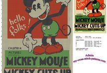 Quadretti topolino vintage