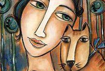 femme+chien