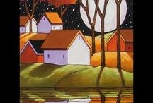 modern folk art painting