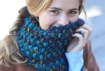 COWLS/VARIEGATED WOOL / IDEAS FOR COWLS