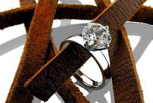 CZ solitaire rings / High quality cubic zirconia solitaire platinum and gold rings.