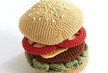 crochet hamburgers & hot dogs