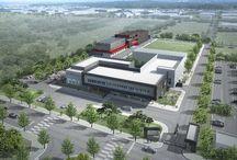 """works: 연구소 프로젝트.. """"SFC Laboratory I"""" 에스에프씨 연구소 I / 오창 과학산업단지 내 외국인 투자단지에 신축하는 SFC 신축 연구소 및 연구실험동, 클린룸동"""