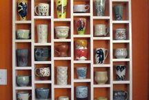 чашки в интерьере
