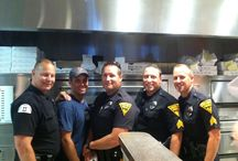 """Pizza with the Police-Sal's / The Evesham Police Department held its first """"Pizza with the Police"""" event at Sal's Pizzaworks on July 23rd, 2014.  We would like to thank the business owners and all those that came out to meet with our officers.  This event was a great way for the public to have an informal meeting with officers and express any concerns they had."""