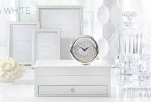 Trend! White / White on white is all over the runways for spring and fall of 2014! It has definitely influenced home decor trends as well! Here are some of our favorite white items, so you can create a white out of your own!