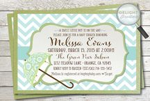 Chevron Baby Shower Invitations! / Adorable baby shower invitations that are custom hand-mounted on beautiful card stock
