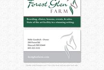 Horse Business Cards / Business card designs with horses. Equine designs.
