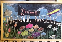Chalkboards featured at Magnolia Bakery