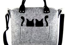 Bags with two cats