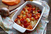 zucca patate cipolle pomodorini al forno