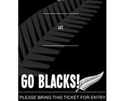 All blacks rugby themed party