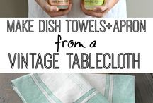 (a) aprons, dish towels, carriers, coasters / by Lori Dlask
