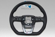Sport Lenkrad S-LINE Schwarz Leder Multifunktion steering wheel Audi Q7 4M 2015-2017 4M0419091T
