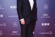 Henry Cavill at the Laureus World Sports Awards 2015 / Henry Cavill and his brother, Charlie Cavill attend the 2015 Laureus World Sports Awards at Shanghai Grand Theatre on April 15, 2015 in Shanghai, China. Henry presents the Best Team Award.