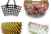 hand made bags from candy wrappers