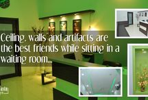 Commercial Projects / Board to display the Commercial Projects designed by Shri Vastu Krit Interiors.