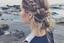 Wedding hair for bridesmaid