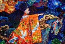 Iris Scott Tabloları - Parmakla Yağlı Boya