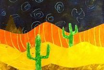 Mat. - Thème chameau et dromadaire, désert et cactus