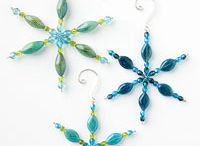 Beaded snowflake ornaments secret