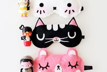 Cute Eyemasks / Keep the light out with these adorable eye masks while you get a great nights' sleep with Rest Rite.