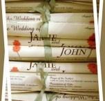 Wedding programs / by Margaret Arnett