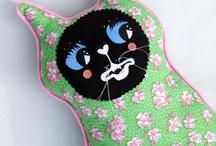 Katzen Art Pillows / For purchase @ http://gildedcatdesigns.com / by Victoria Cates