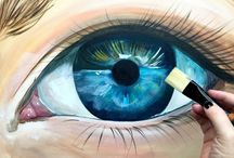 eyes in acrylic