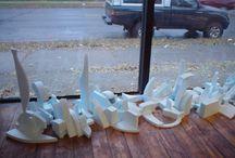styrofoam art / by Jane Vickers