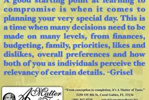 Advice from the planner / Event and wedding planning advice.