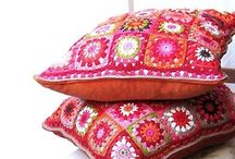 crochet pillow, cushion