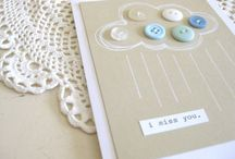 Little message cards ideas / thank, thinging, miss you, hello, just a note card ideas