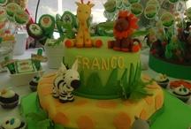 Cumpleaños en la selva. Jungle birthday / Detalles de un festejo con muchos animalitos. Real party