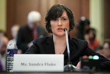 Sandra Fluke,  feminist,  attorney,  victim of Rush Limbaugh attacks / Sandra Kay Fluke is an American attorney and women's rights activist. Fluke first came to attention when Republicans refused to allow her to testify on the importance of requiring insurance plans to cover birth control during a discussion on whether insurance should have a contraception mandate.She later spoke to only House Democratic members. Commenting on her statements at that hearing, Rush Limbaugh made  slurs and speculation regarding her sex life / by Kelly Jacobs