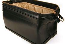 leather travel/make up kit