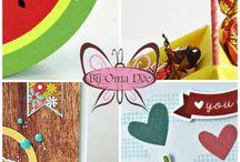 iDEE&post 2014 / Elke drie maanden selecteert het DeeTee van Bij Oma Dee de leukste materialen om kaarten, doosjes en andere papierprojectjes mee te maken. Ter inspiratie ontvang je elke maand nieuwsbrief per mail, inclusief kleurenfoto's.