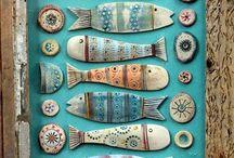 Pesci dipinti