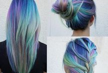 Colored hair / Haare