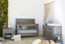 Beckett 4-in-1 Convertible Crib / The Beckett 4-in-1 Crib bridges the gap between traditional and modern design with its clean silhouette and thoughtful detailing. Featuring a two-tone raised back panel with matching footboard, simple tapered feet, and mitered cuts with contemporary 45 degree trimming, the Beckett is a transitional low-profile piece fit for any setting. Available in a Stone and Dark Ash finish.