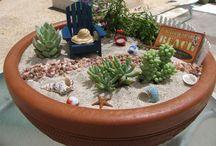 Miniträdgård i kruka