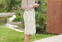 Lace skirt styling