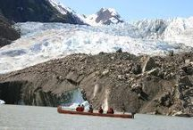 Alaska Skagway Glacier / Take adventure to the next level and explore Alaska Glaciers either by cruise, helicopter, canoe or trek.